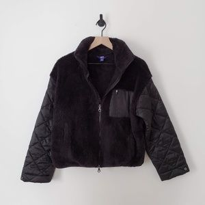 Joy Lab Sherpa Full Zip Quilted Jacket / M